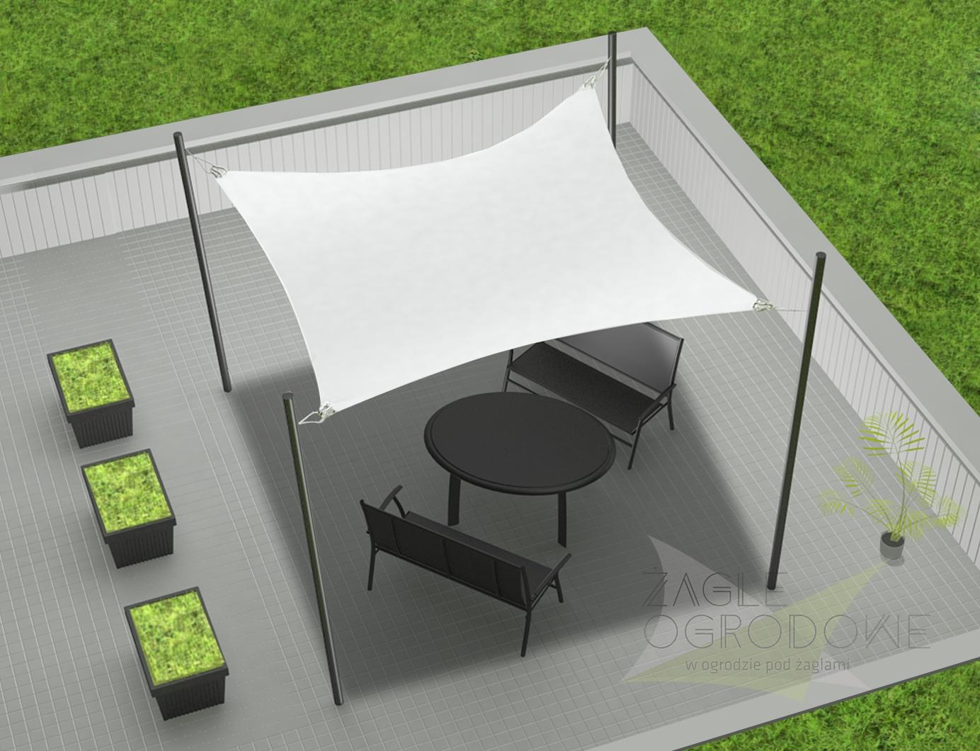 żagiel Standardowy Kwadrat 3 2x3 2m żagle Ogrodowe